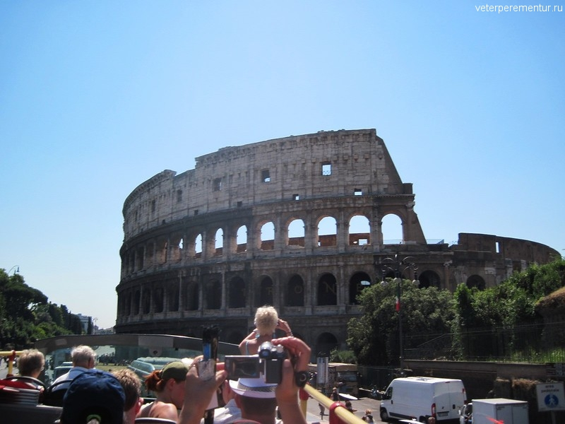 Поездка по Риму на туристическом автобусе
