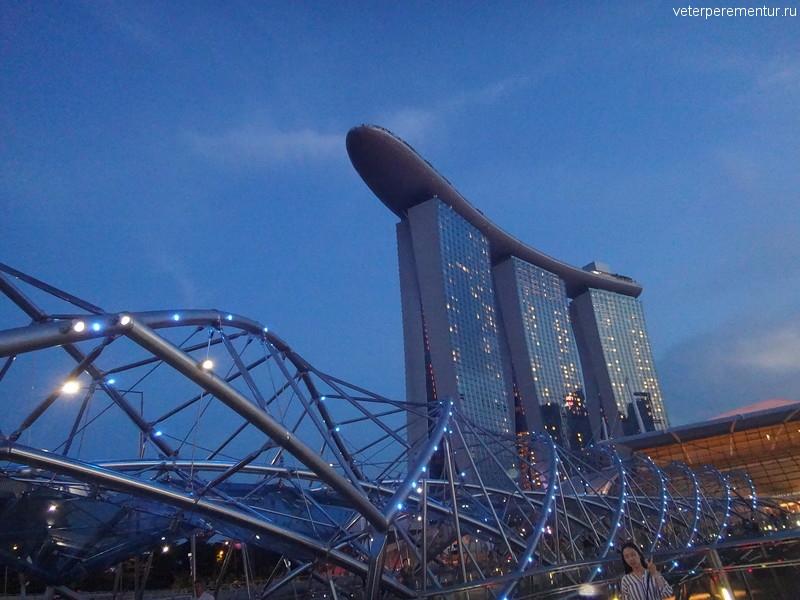 Сингапур, мост в виде молекулы ДНК