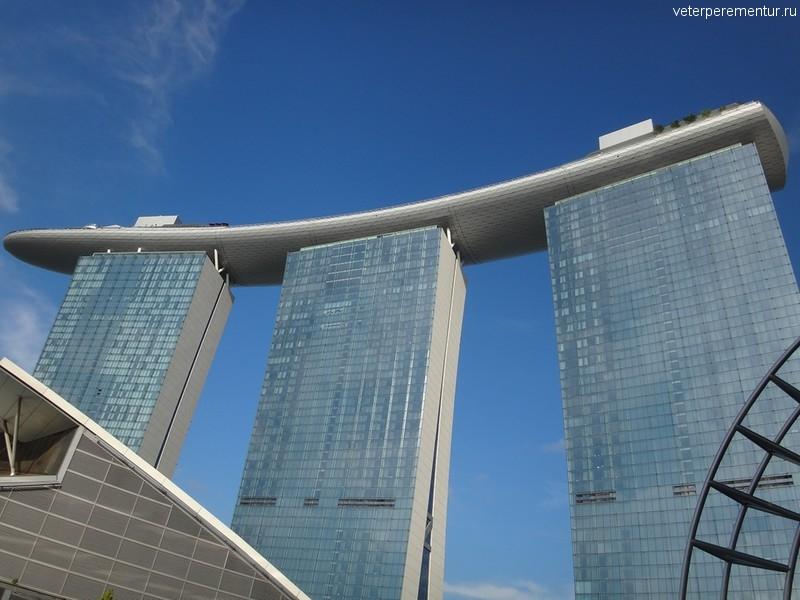 Виды с крыши торгового комплекса Marina Bay Sands