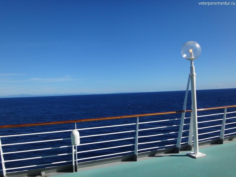 Rhapsody of the Seas, вид на море с борта