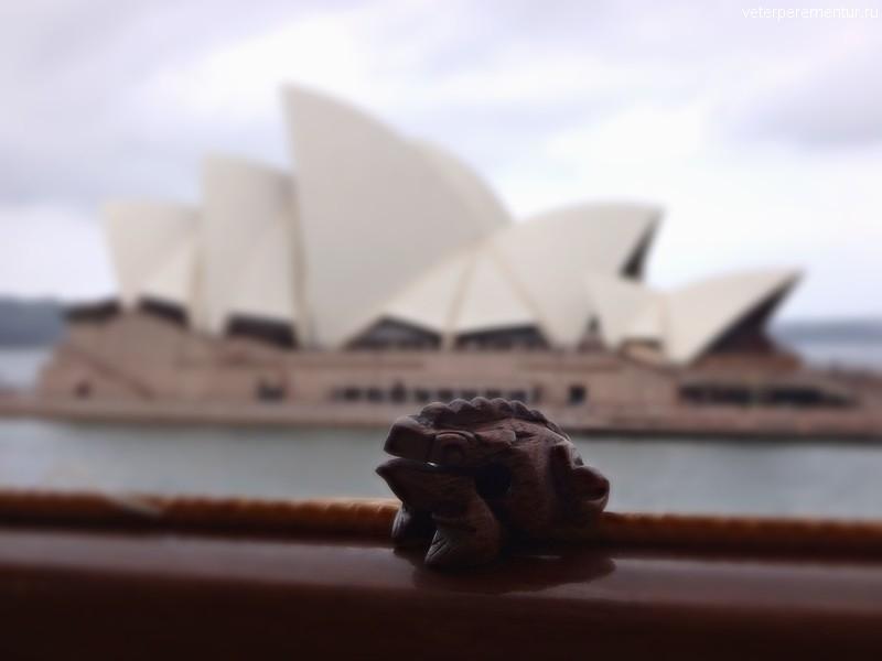 Rhapsody of the Seas, вид с борта на Сиднейскую оперу