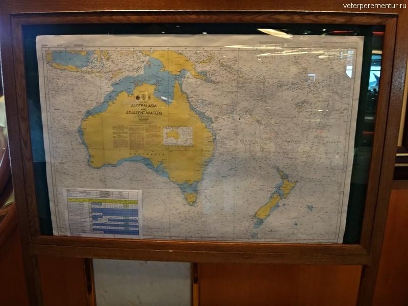 Rhapsody of the Seas, карта маршрута