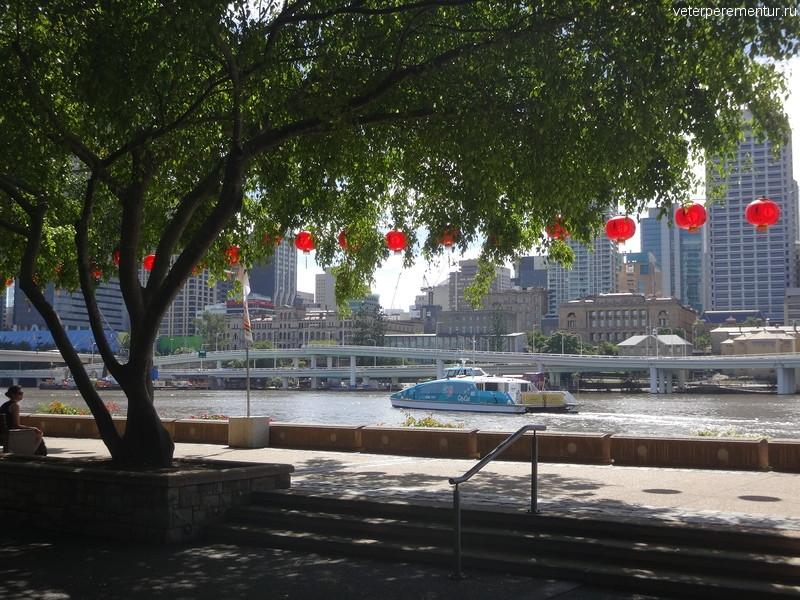 Брисбен (Brisbane), вид на набережную