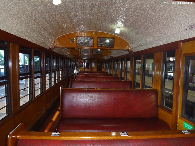 Scenic Railway, вагон внутри