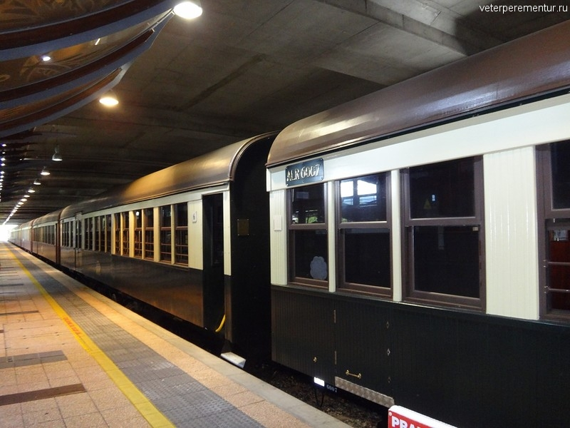 Поезд в Куранду на вокзале в Кэрнсе