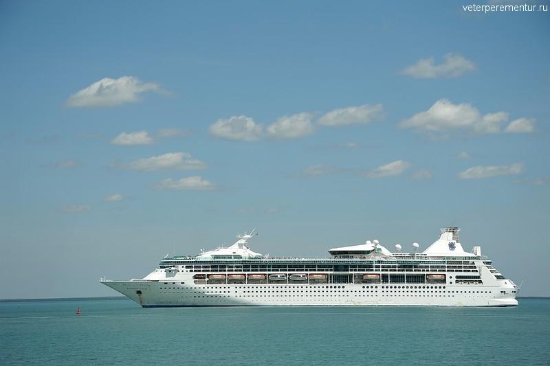 Rhapsody of the Seas подходит к Дарвину, Австралия