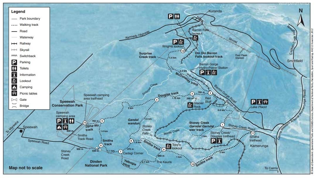 Карта треков Баррон Фолз