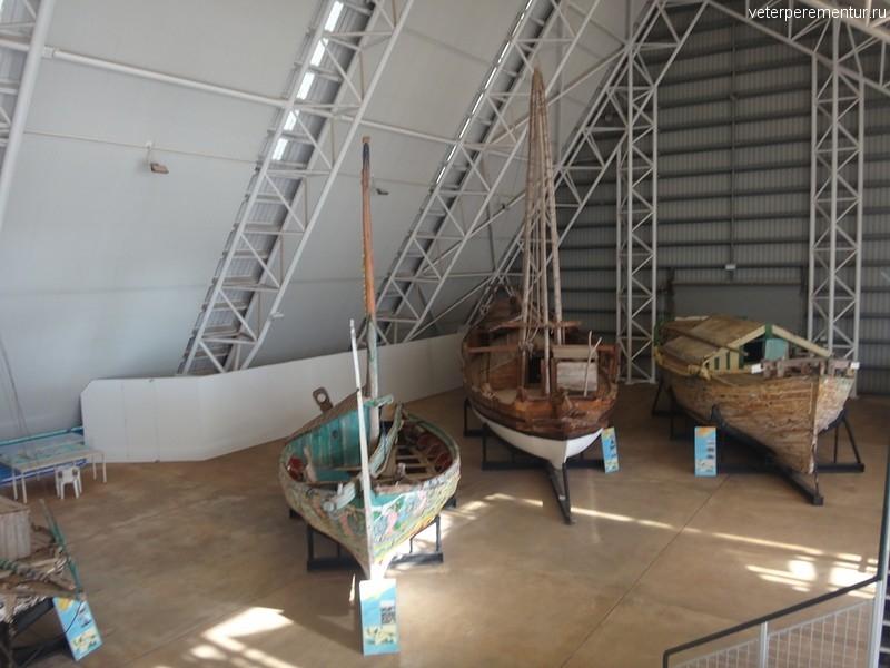 Старинные парусники в музее Дарвина