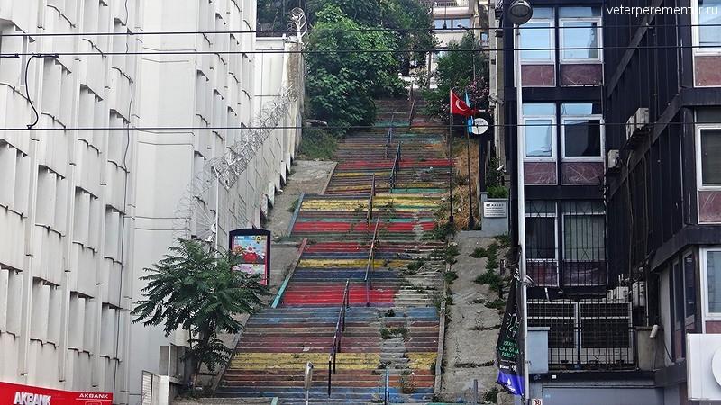 Стамбул, цветная лестница