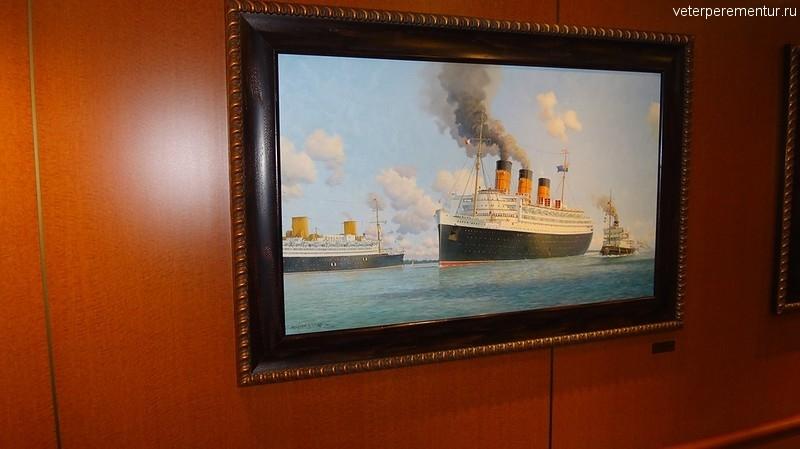 Queen Victoria, картины с изображением кораблей