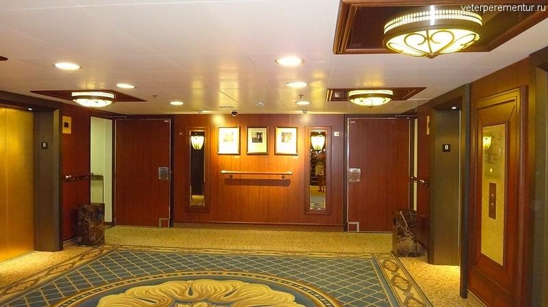 Queen Victoria, зона лифтов