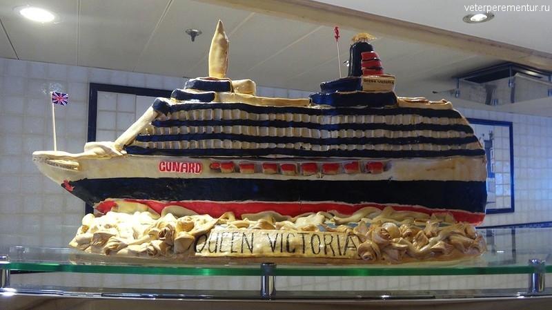 Буфет на корабле Queen Victoria