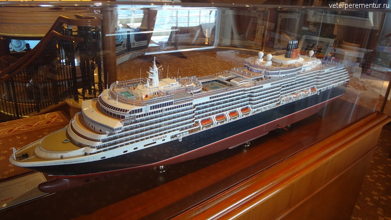 Queen Victoria, макет корабля