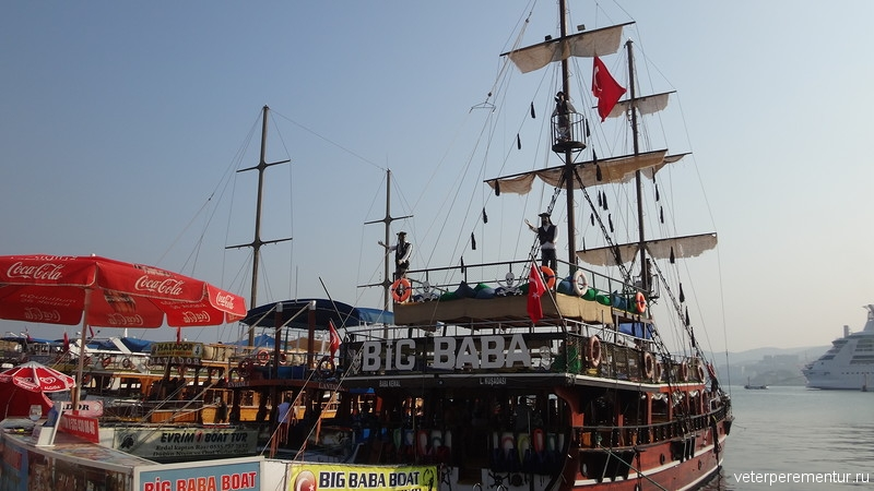 Kusadasi (Кушадасы), прогулочные корабли