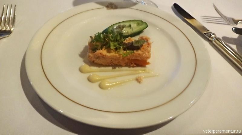 Queen Victoria, еда в ресторане