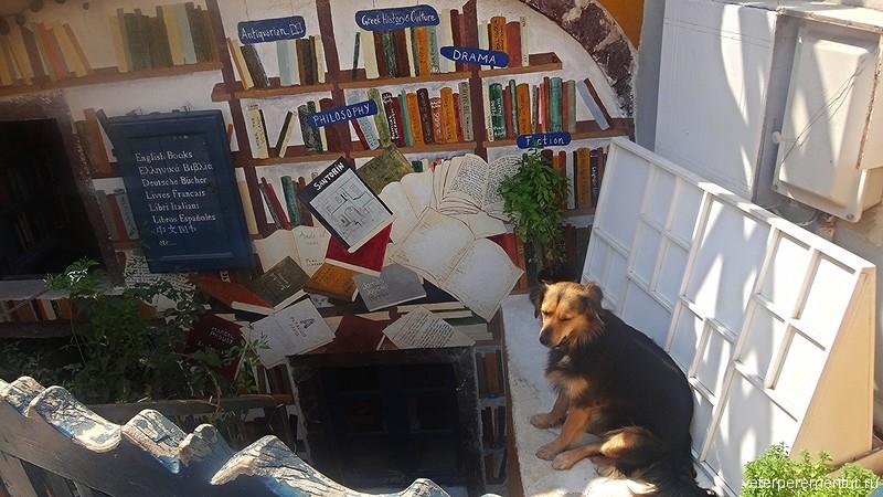 Санторини, книжный магазин