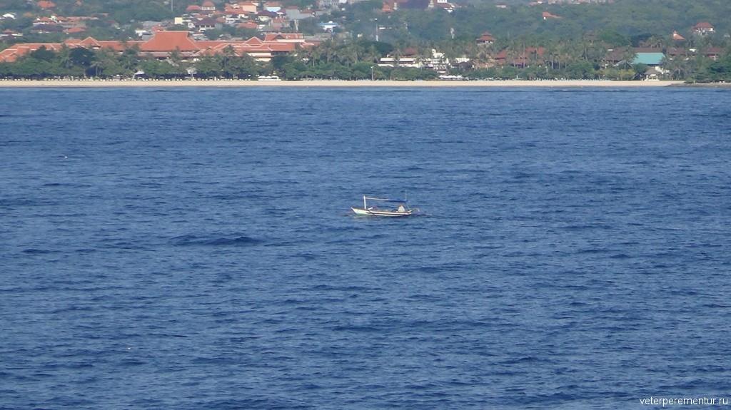 Бали, вид с корабля