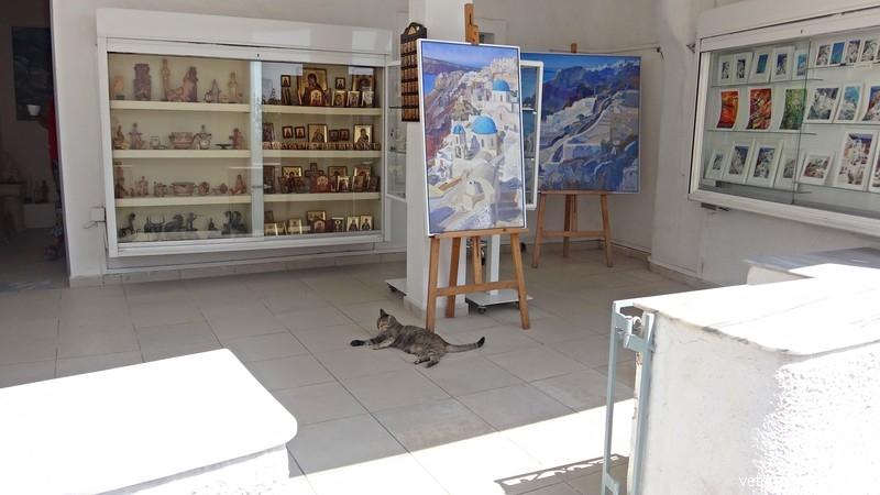 Санторини, художественный салон