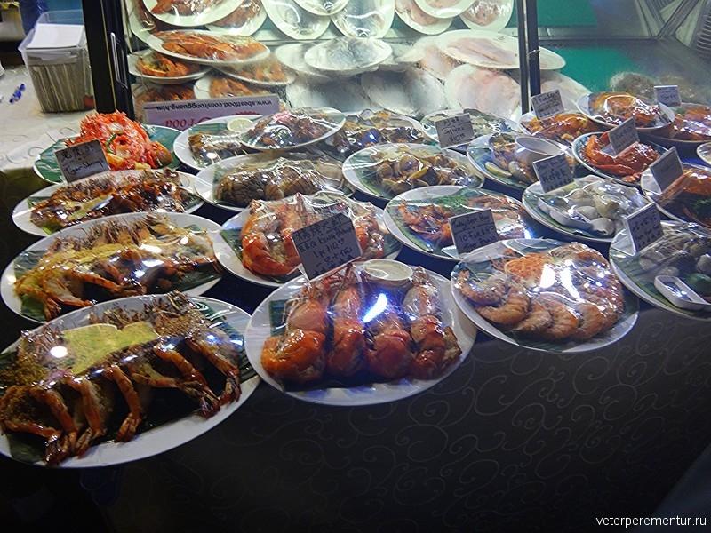 морепродукты, Сингапур