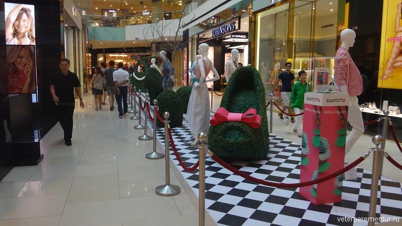 Оформление торгового центра в Сингапуре