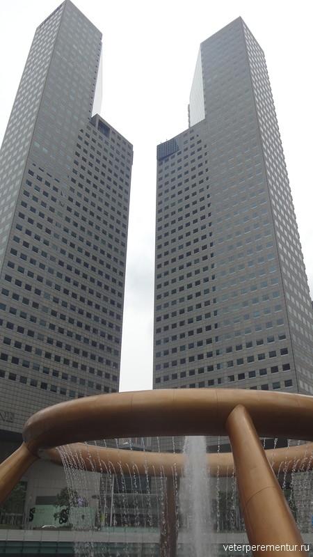 Фонтан богатства, Сантек Сити, Сингапур