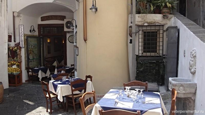 Уличное кафе в Амальфи