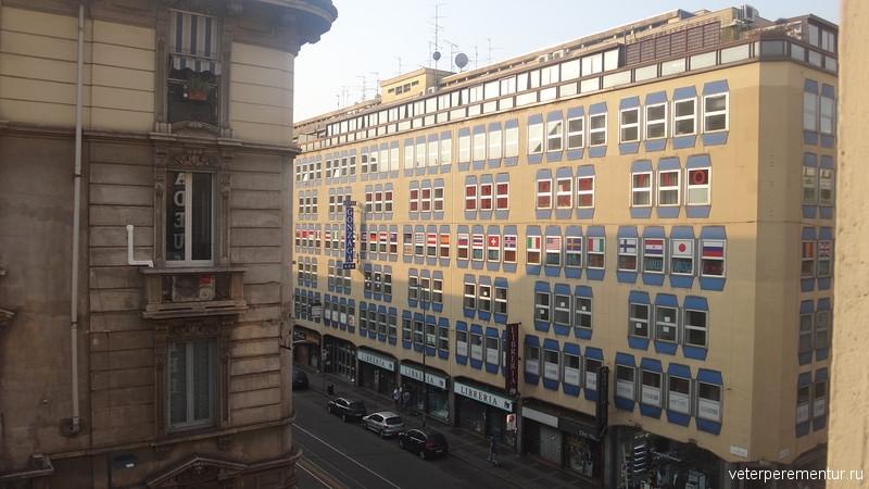 Милан, вид из окна