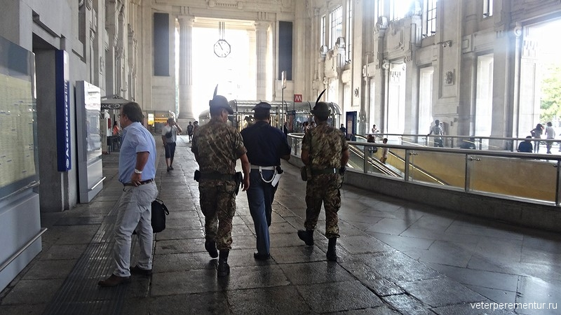 Железнодорожный вокзал в Милане