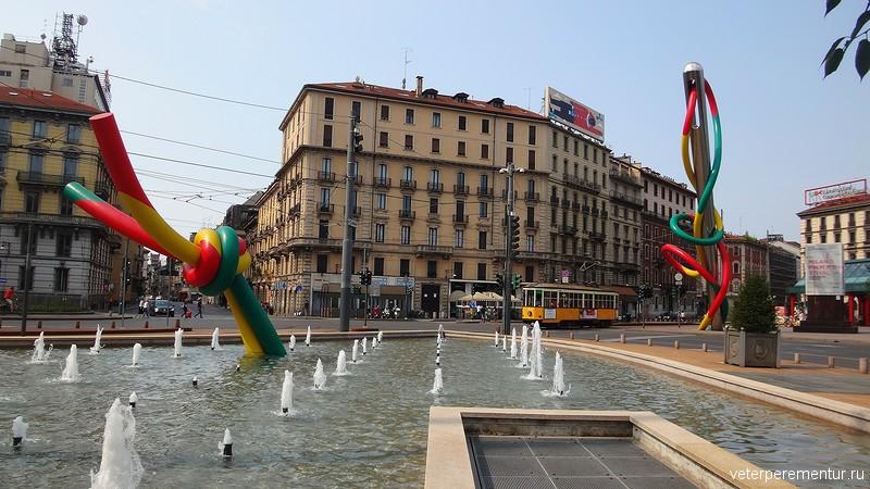 Милан, памятник иголке
