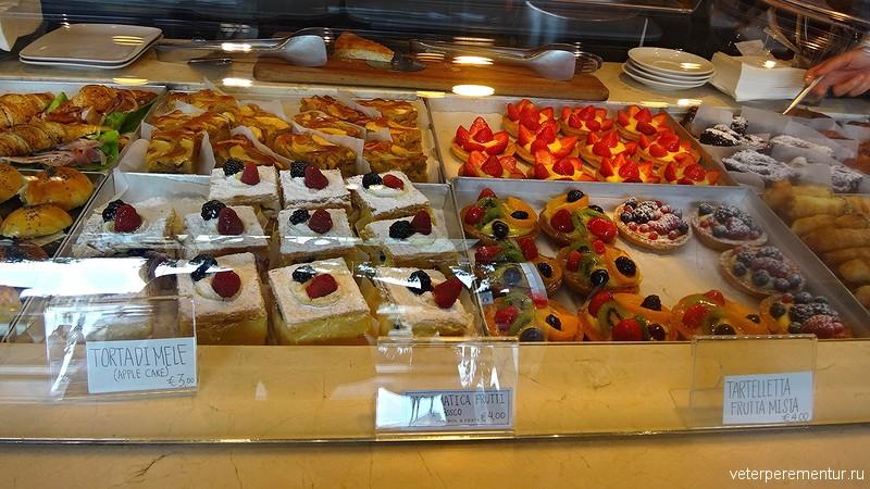 Пирожные в Милане