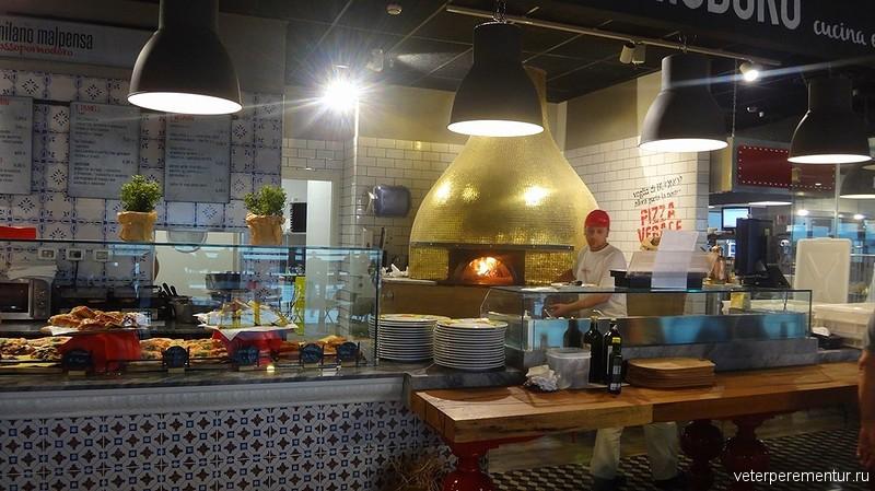 Пицца в миланском аэропорту