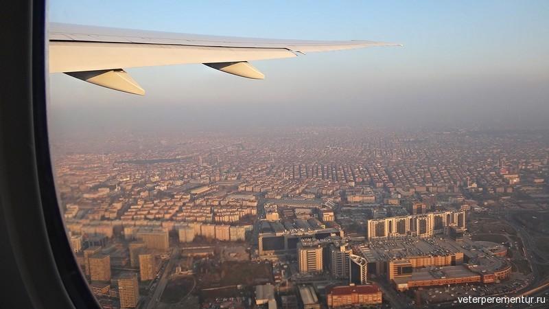 Вид на Стамбул с самолета