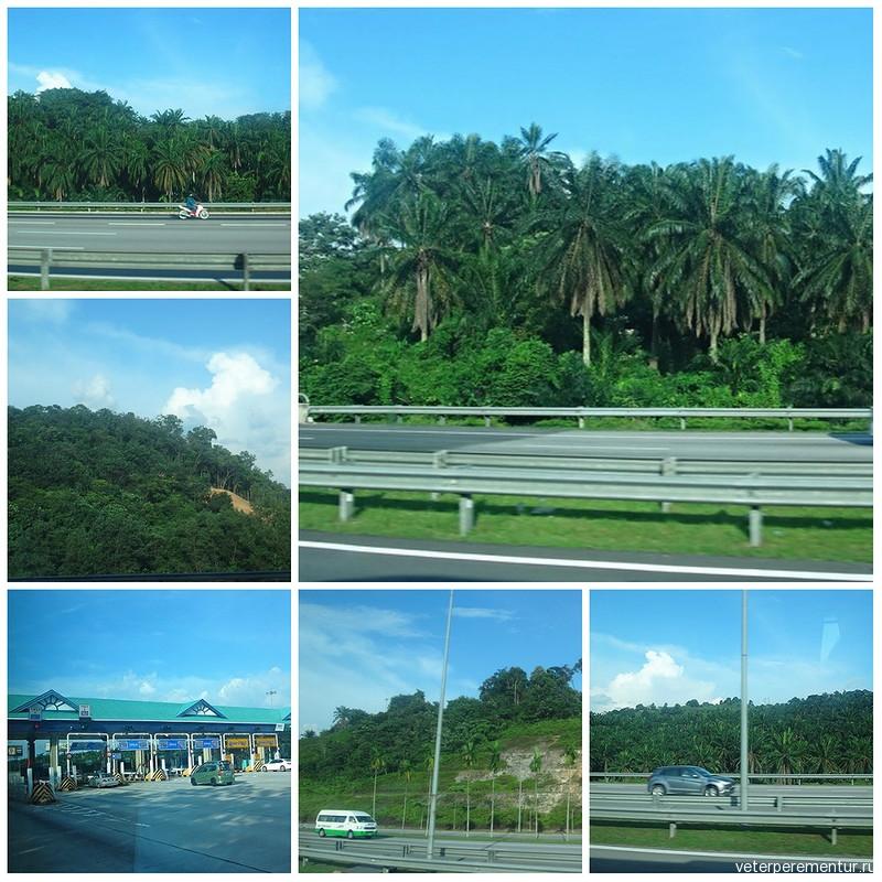 Куала-Лумпур, дорога из аэропорта в город