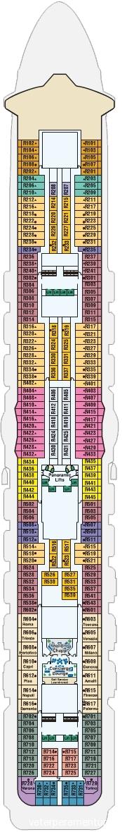 14 палуба ROYAL PRINCESS