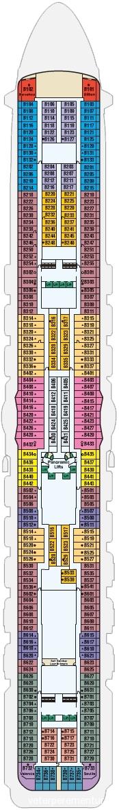 11 палуба ROYAL PRINCESS