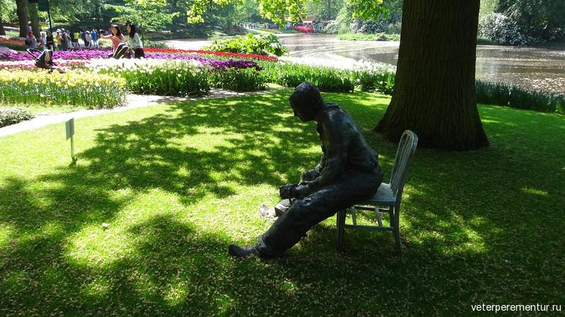 Парк цветов Keukenhof, скульптура