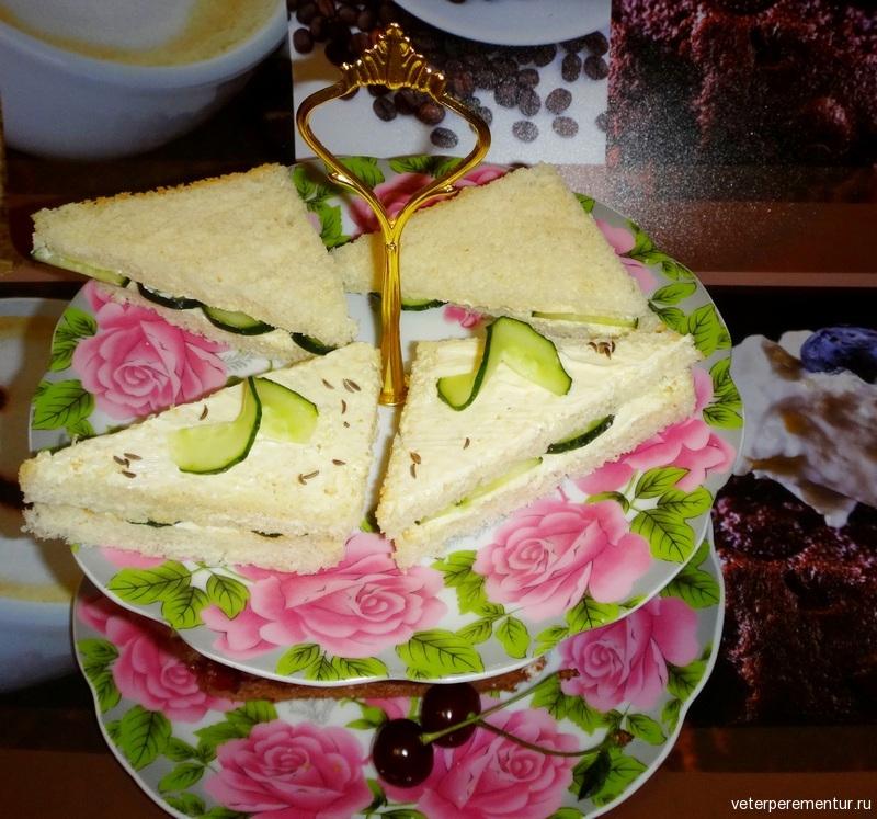 Сандвич с огурцом