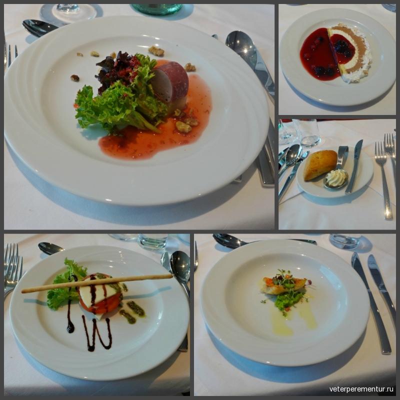 MS RHEIN MELODIE, блюда в ресторане