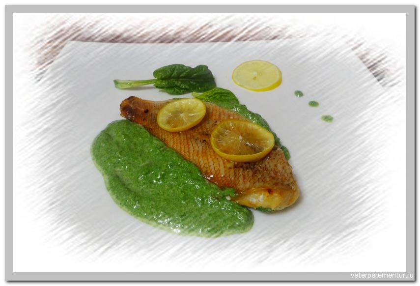Рыба, запеченная с лимоном и укропом