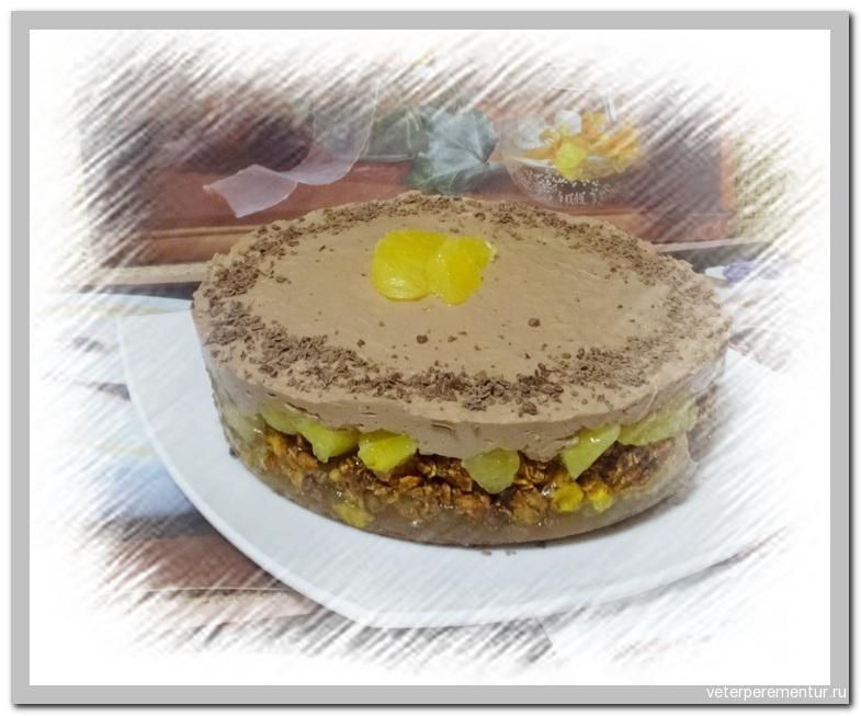 Муссовый торт с апельсином и шоколадом