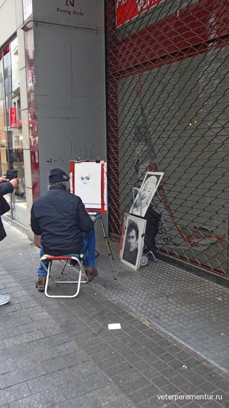 Кельн, уличный художник