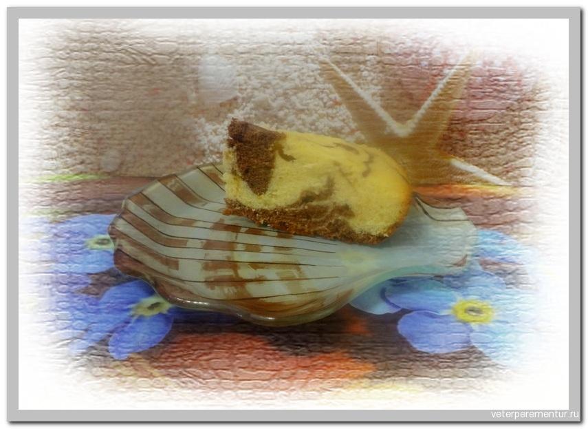 Шоколадно-лимонный кекс в мультиваpке