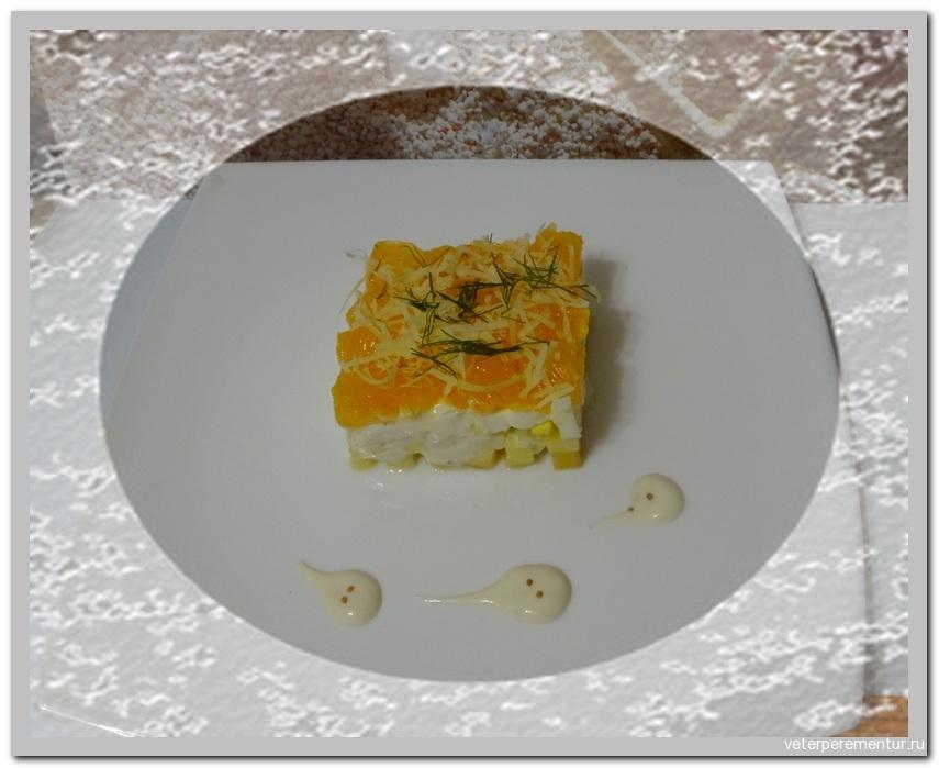 Салат с апельсином и сыром