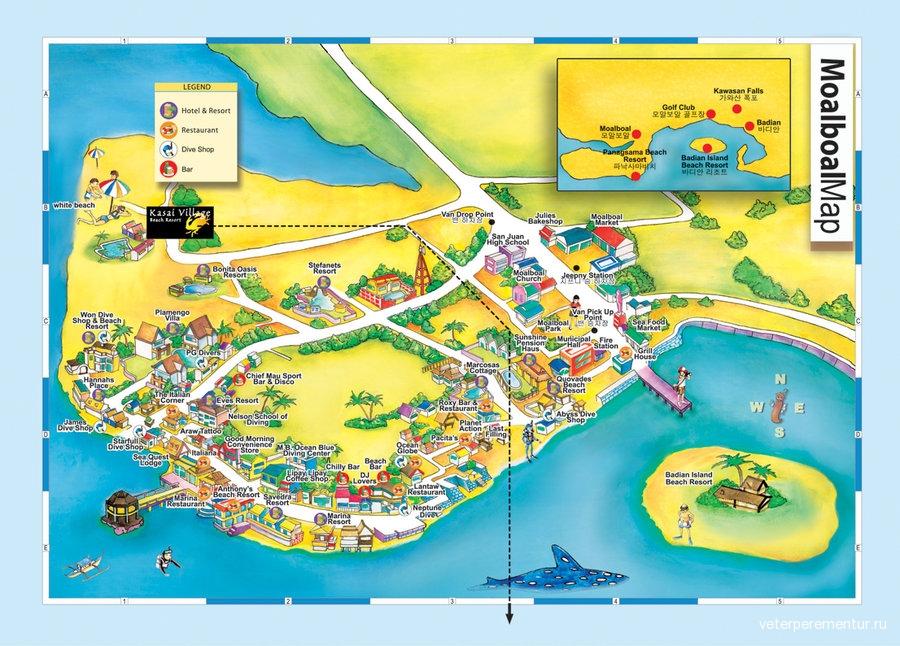 карта моалбоал