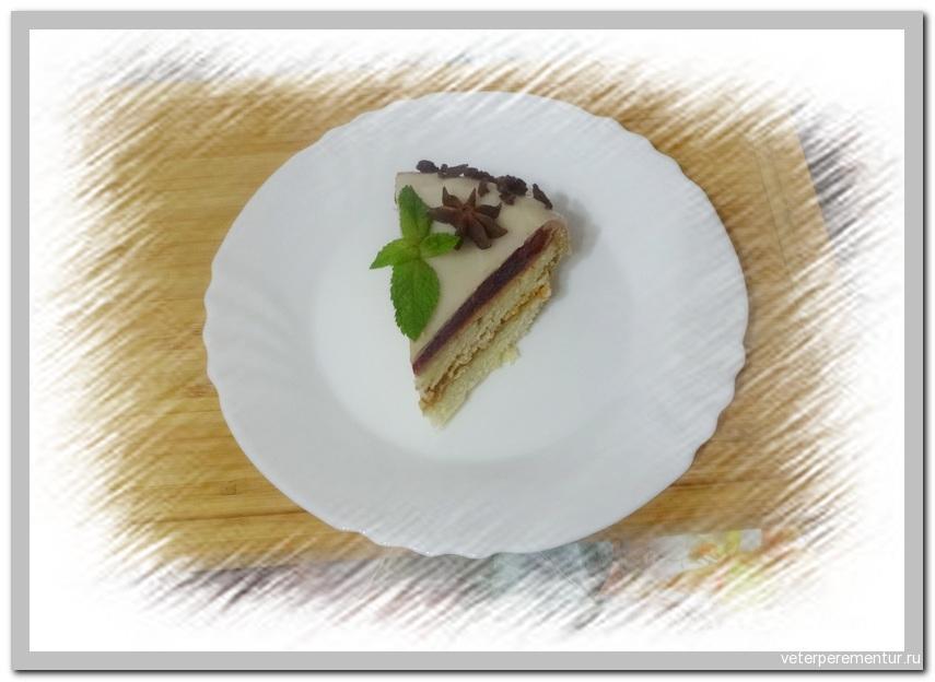 Торт с кофейным муссом и зеркальной глазурью