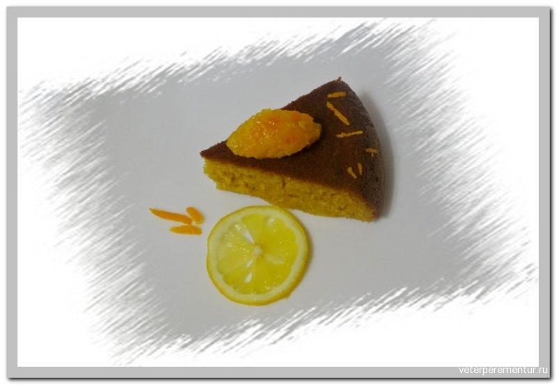 Лимонный кекс с лимонной пропиткой