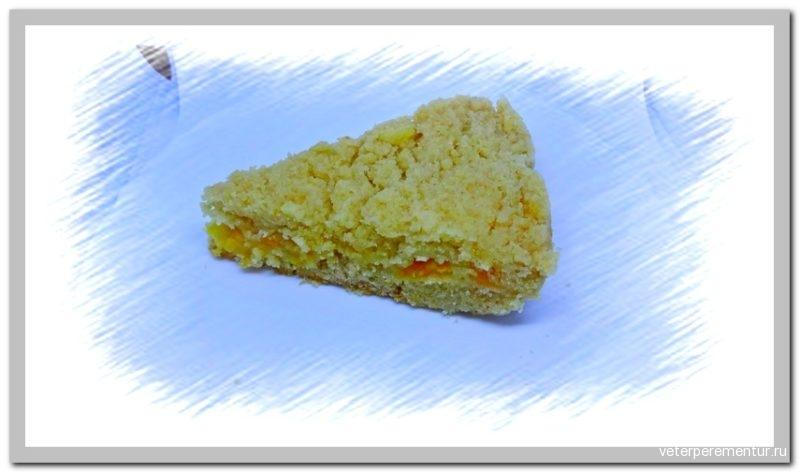 Насыпной пирог с абрикосами