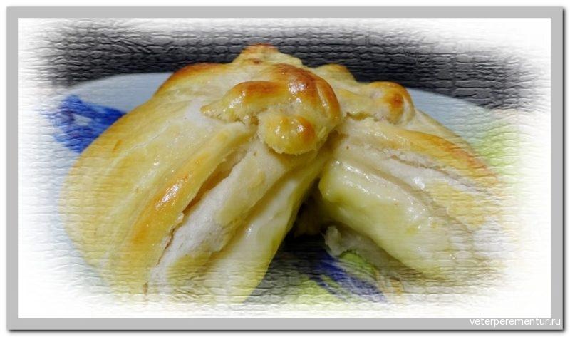 Сыр Бри в слоеном тесте