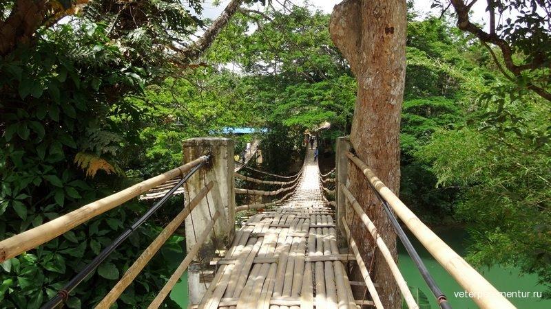 Бохол, Филиппины, бамбуковый мост