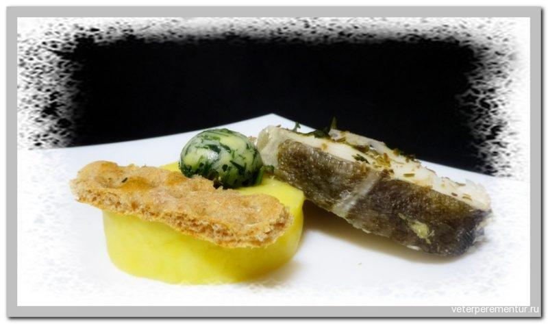 Рыба на пару с розмарином Steamed fish